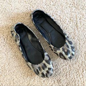 Tory Burch Leopard Eddie Flats